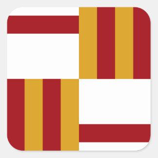 Flagge Barcelonas (Spanien) Quadratischer Aufkleber