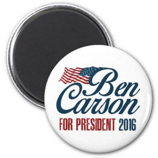 Flagge Bens Carson US Runder Magnet 5,7 Cm