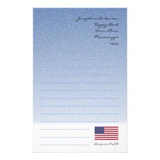 Flagge-Blau-Schreibpapier Briefpapier