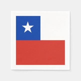 Flagge: Chile Servietten