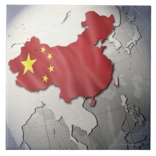 Flagge der China Fliese