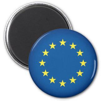 Flagge der europäischen Gewerkschaft Runder Magnet 5,1 Cm