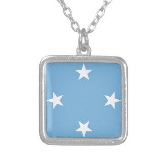 Flagge der Federated States of Micronesia Versilberte Kette