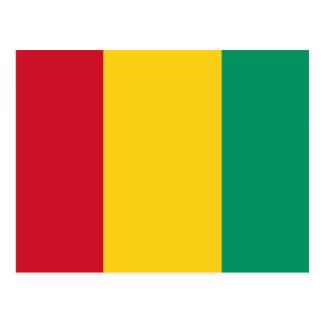 Flagge der Guinea Postkarte