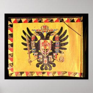 Flagge der Kaiserhabsburger-Dynastie, c.1700 Poster