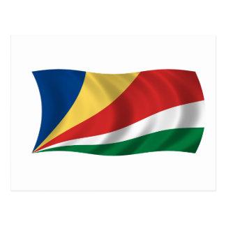 Flagge der Seychellen Postkarte