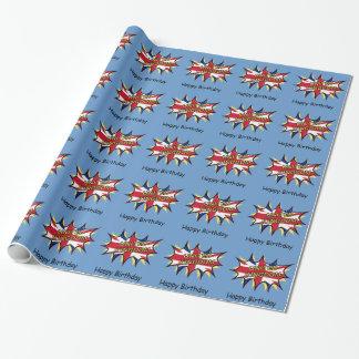Flagge der Sternexplosion Vereinigten Königreichs Geschenkpapier