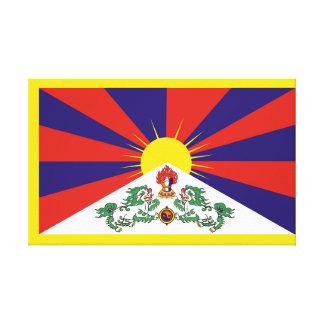 Flagge der Tibet- oder Schnee-Löwe-Flagge Leinwanddruck