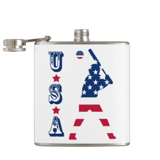 Flagge des Amerika-Baseball-Amerikaners Flachmann