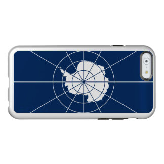 Flagge des antarktischen Vertrag-Silber iPhone Incipio Feather® Shine iPhone 6 Hülle