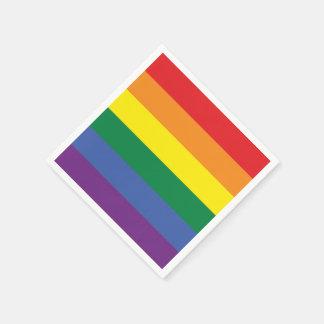 Flagge des Gay Pride-Regenbogen-LGBT Papierserviette