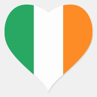 Flagge des Irland-Herz-Aufklebers Herz-Aufkleber