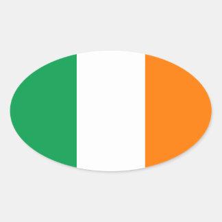 Flagge des Irland-Oval-Aufklebers Ovaler Aufkleber