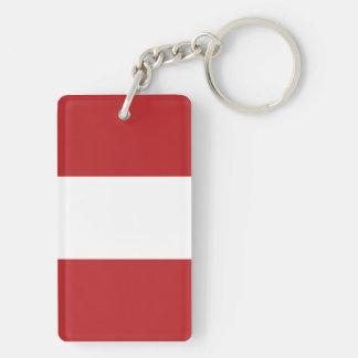Flagge des Perus Schlüsselanhänger