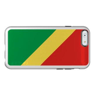 Flagge des Republik Kongo-Silber iPhone Falles Incipio Feather® Shine iPhone 6 Hülle