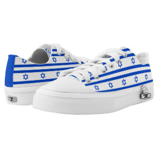 Flagge des Staat von Israel Niedrig-geschnittene Sneaker