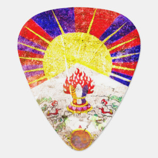 Flagge des Tibetgrunge-Plektrums Plektrum