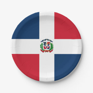 Flagge: Dominikanische Republik Pappteller 17,8 Cm