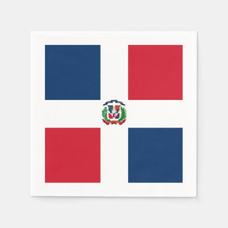 Flagge: Dominikanische Republik Serviette