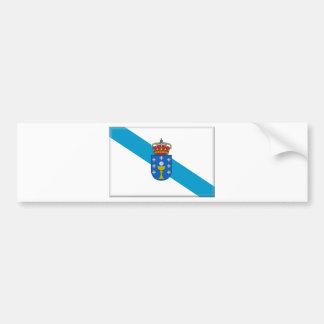 Flagge Galiziens (Spanien) Autoaufkleber