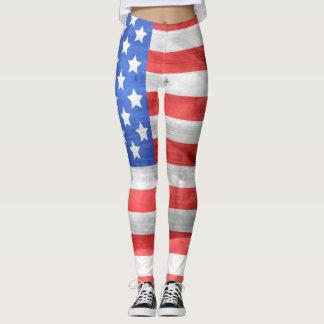 Flagge-Gamaschen Leggings