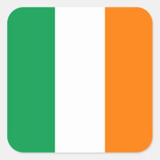 Flagge großen quadratischen Aufklebers Irlands Quadratischer Aufkleber