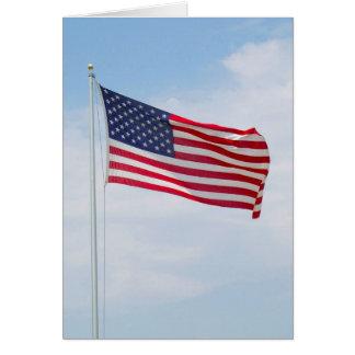 Flagge-Gruß oder Notecard #1 Karte