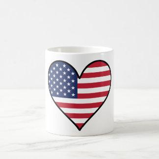 Flagge-Herz Kaffeetasse
