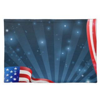Flagge-Hintergrund-Entwurf Stofftischset