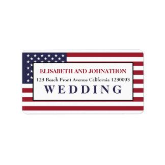 Flagge-Hochzeit Adressetiketten