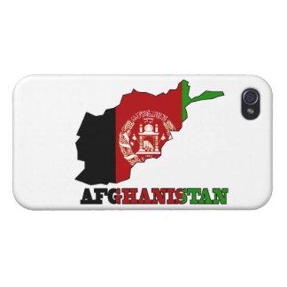 Flagge in der Karte von Afghanistan iPhone 4 Cover