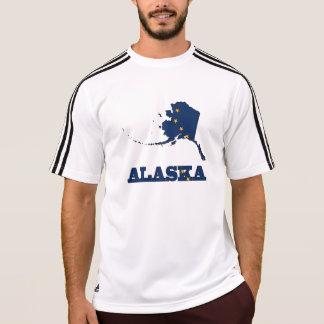 Flagge in der Karte von Alaska T-Shirt