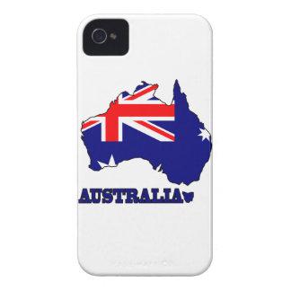 Flagge in der Karte von Australien iPhone 4 Cover