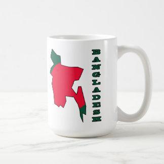 Flagge in der Karte von Bangladesch Kaffeetasse