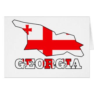 Flagge in der Karte von Georgia