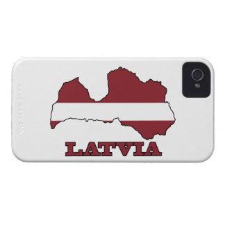 Flagge in der Karte von Lettland iPhone 4 Case-Mate Hülle