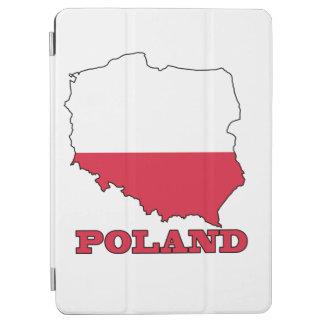 Flagge in der Karte von Polen iPad Air Hülle
