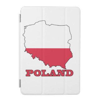 Flagge in der Karte von Polen iPad Mini Hülle