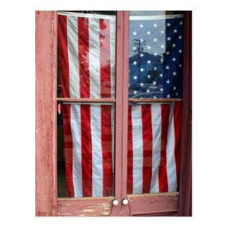 Flagge in der Tür, Virginia City, Nevada Postkarten
