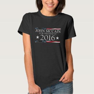 Flagge John McCain-Präsidenten-im Jahre 2016 USA T-shirts