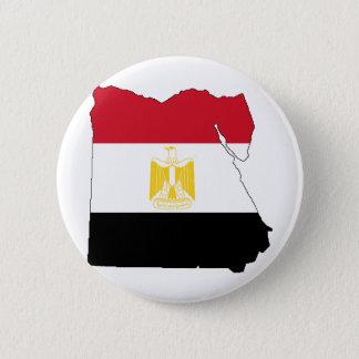 Flagge/Karte von Ägypten Runder Button 5,1 Cm