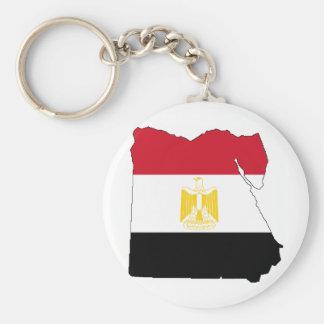 Flagge/Karte von Ägypten Standard Runder Schlüsselanhänger