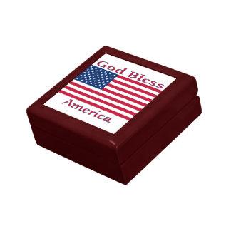 Flagge-Kasten Kleine Quadratische Schatulle