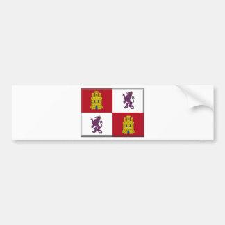 Flagge Kastiliens y Leon (Spanien) Autoaufkleber