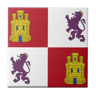 Flagge Kastiliens y Leon (Spanien) Keramikfliese
