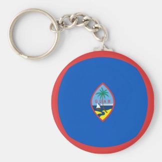 Flagge Keychain Guams Fisheye Schlüsselanhänger