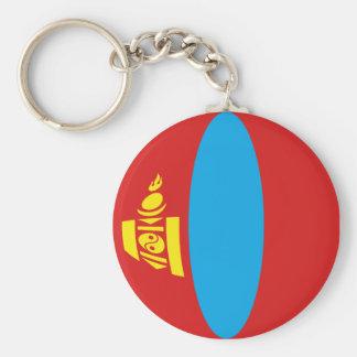 Flagge Keychain Mongolei Fisheye Schlüsselanhänger