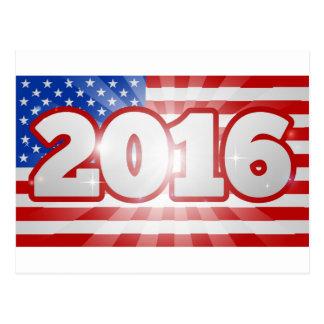 Flagge-Konzept-Wahl 2016 Postkarten