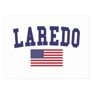 Flagge Laredos US Postkarte