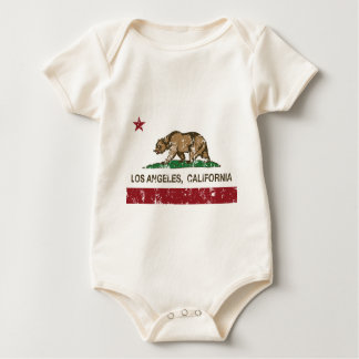 Flagge Los Angeles Kalifornien Baby Strampler